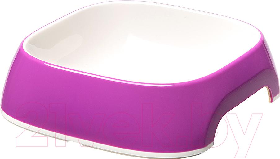 Купить Миска для животных Ferplast, Glam Medium (0.75л, фиолетовый), Италия, пластик
