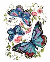 Набор для вышивания Чудесная игла Синие бабочки / 1356392 -