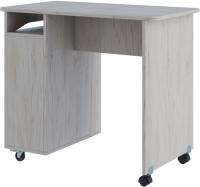 Письменный стол SV-мебель Миндаль (гикори светлый/белый) -