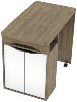 Письменный стол SV-мебель Миндаль (гикори темный/белый) -