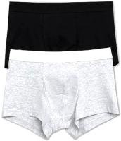 Комплект мужских трусов Mark Formelle 411124-2 (р-р 114-124, черный/серый меланж 4306А) -