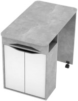 Письменный стол SV-мебель Миндаль (цемент светлый/белый) -