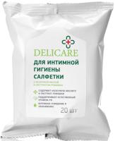 Влажные салфетки для интимной гигиены Delicare С Молочной кислотой и Эфирным маслом ромашки (20шт) -