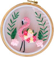 Набор для вышивания Школа талантов Розовый фламинго / 4441318 -