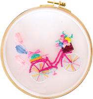 Набор для вышивания Школа талантов Розовый велосипед / 4441317 -