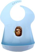 Нагрудник детский Пластишка С карманом / 1361308 (голубой) -
