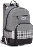 Школьный рюкзак Grizzly RB-155-1 (серый/черный) -