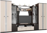 Стенка SV-мебель Гамма 15 Д (дуб венге/дуб млечный) -