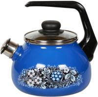 Чайник со свистком СтальЭмаль Вологодский сувенир 4с210я -