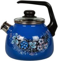 Чайник со свистком СтальЭмаль Вологодский сувенир 4с209я -