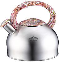 Чайник со свистком Peterhof PH-15639 (белый/красный) -