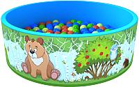 Игровой сухой бассейн Romana Зверята ДМФ-МК-02.52.01 (100 шариков) -