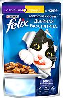 Корм для кошек Felix Двойная вкуснятина с ягненком и курицей в желе (85г) -