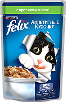 Корм для кошек Felix Аппетитные кусочки с кроликом (85г) -