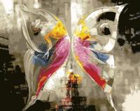 Картина по номерам PaintBoy Эффект бабочки / GX21459 -