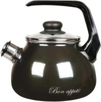 Чайник со свистком СтальЭмаль Bon Appetit 1RC12 (мокрый асфальт) -