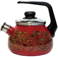 Чайник со свистком СтальЭмаль Imperio 1RC12 (вишня) -