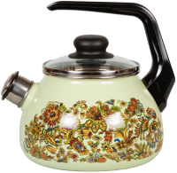 Чайник со свистком СтальЭмаль Imperio 1RC12 (салатовый) -