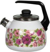 Чайник со свистком СтальЭмаль Violeta 1RC12 (белый) -