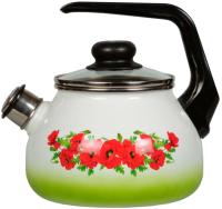 Чайник со свистком СтальЭмаль Восточный мак 4с210я -