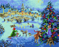 Набор алмазной вышивки PaintBoy Зимний праздник / GF099 -
