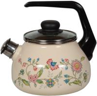 Чайник со свистком СтальЭмаль Луговые цветы 4с210я -