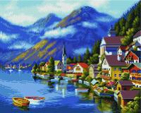 Набор алмазной вышивки PaintBoy Альпийская деревня / GF230 -