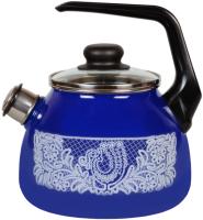 Чайник со свистком СтальЭмаль Вологодское кружево 4с209я -