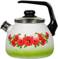 Чайник со свистком СтальЭмаль Восточный мак 4с209я -