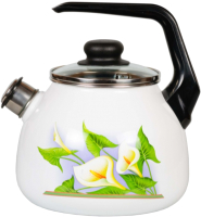 Чайник со свистком СтальЭмаль Каллы 4с209я -