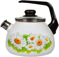 Чайник со свистком СтальЭмаль Ромашки лето 4с209я -