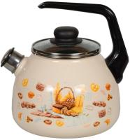Чайник со свистком СтальЭмаль Хлеб 4с209я -