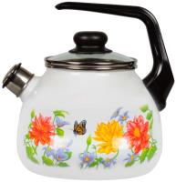 Чайник со свистком СтальЭмаль Цветочный 4с209я -