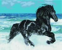 Набор алмазной вышивки PaintBoy Фризская лошадь / GF863 -