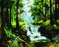 Набор алмазной вышивки PaintBoy Лесной водопад / GF1223 -