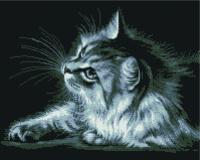 Набор алмазной вышивки PaintBoy Серая кошка / GF2575 -