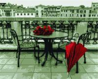 Набор алмазной вышивки PaintBoy Красный штрих / GF2582 -