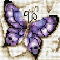 Набор алмазной вышивки PaintBoy Фиолетовая бабочка / BF195 -