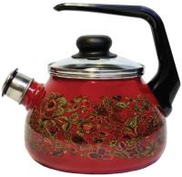 Чайник со свистком СтальЭмаль Imperio 1RA12 (вишня) -