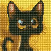 Набор алмазной вышивки PaintBoy Черный котенок / BF1107 -