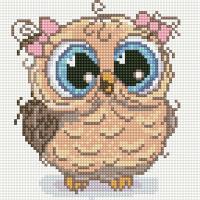Набор алмазной вышивки PaintBoy Нарядная сова / BF1164 -