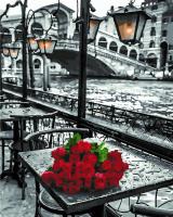 Набор алмазной вышивки PaintBoy Розы под дождем 2 в 1 / GZS1090 -