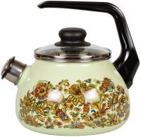 Чайник со свистком СтальЭмаль Imperio 1RA12 (салатовый) -