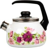Чайник со свистком СтальЭмаль Violeta 1RA12 (белый) -