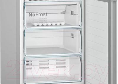 Холодильник с морозильником Bosch Serie 4 VitaFresh KGN39IJ22R (розовый пудровый)