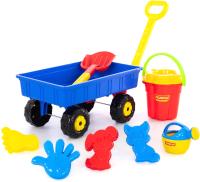 Тележка с игрушками для песочницы Полесье Дачная / 36384 -