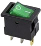 Выключатель клавишный Rexant ON-OFF 36-2173 (зеленый) -