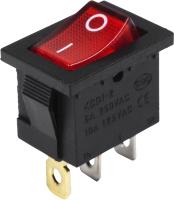 Выключатель клавишный Rexant ON-OFF 36-2165 (красный) -