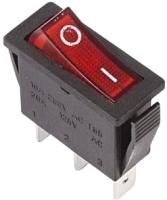 Выключатель клавишный Rexant ON-OFF 36-2210 (красный) -