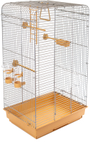 Клетка для птиц ЕСО Тоша / 4057беж-хром -